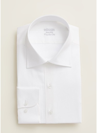 Bisse GM20K22223 Regular Fit Çizgili Klasik Gömlek Beyaz